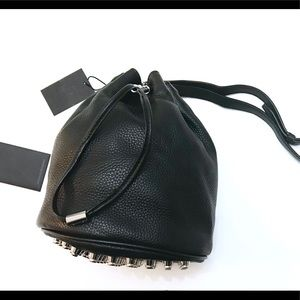 NWT Alexander Wang bucket Togo leather bag $795